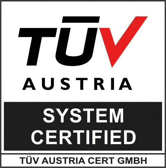 Tuv Austria System Certified
